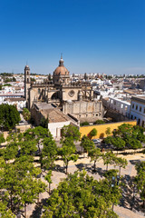 Great view of old Spanish town, Jerez.