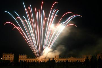 Feuerwerk an der Orangerie in Kassel zum Zissel