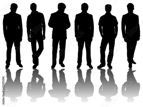 6 silhouettes of men /2