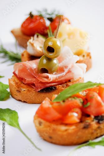 Home Белла-Италия Итальянское меню Итальянские горячие закуски.