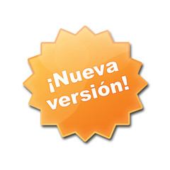 "Estrella brillante con texto ""¡NUEVA VERSION!"""