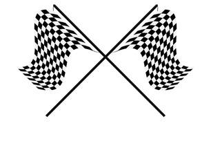 Zielflaggen Kreuz