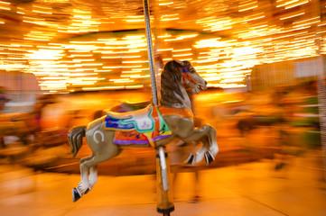 carousel horse panning