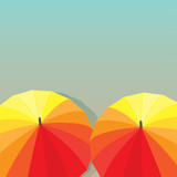 Umbrellas. Vector illustration