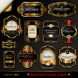 set of black gold-framed labels - 25024254