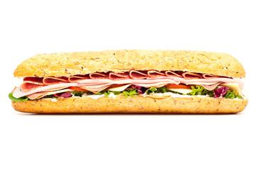Fresh meat feast salad baguette sub sandwich