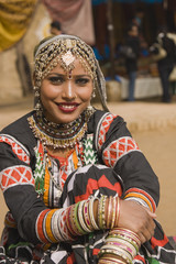 Beautiful Tribal Dancer from Rajasthan in India