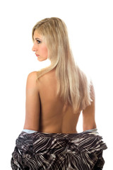 Back and hair of a young blonde