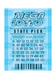 lottery ticket blue