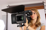 Teenage Girl Learning Cinematography In A Studio poster