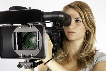 Student Learning Cinematography In A Studio