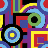 Psychedelic retro pattern poster