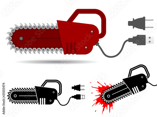 poster of Chainsaw with usb and current cable set