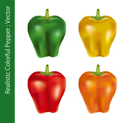 Realistic Colorful Pepper