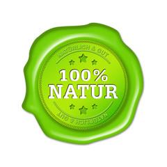 100% Natur, natürlich, button, siegel, stempel, grün