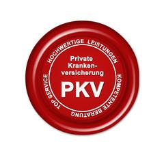 private krankenversicherung, pkv, button, siegel, stempel