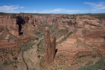 View of Spider Rock in Canyon De Chelly National Monument