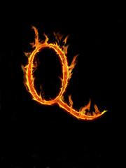 """Fire letter """"Q"""""""