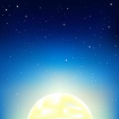 Night Sky With Moon