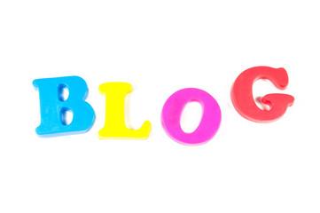 blog written in fridge magnets