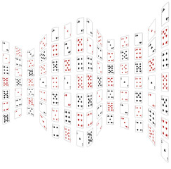 Abstraction from playing cards. Vector illustration