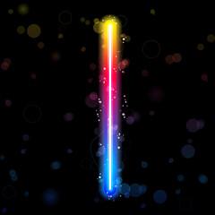 Alphabet Rainbow Lights  Glitter with Sparkles
