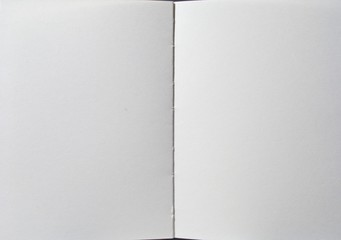 Blank book whith empty pages ready to be filled with text