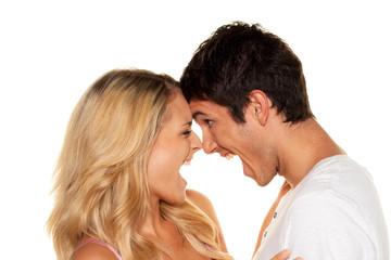 Paar hat Spass. Liebe, Erotik und Zärtlichkeit im Alltag.