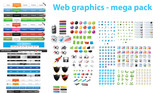 Web graphics - mega pack poster