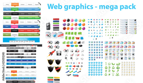 Web graphics - mega pack