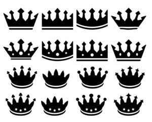 Crowns. Vector.