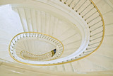 Fototapety Stairwell in Royal castle in Warsaw on World Heritage List.