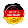 made in germany button, siegel, qualität