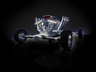 Motuer voiture de course 3D