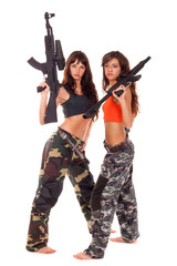 Two armed girls