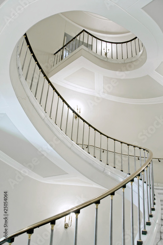 Papiers peints Escalier Stairwell in Royal castle in Warsaw on World Heritage List.