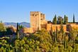 Alhambra at sunset, Granada, Spain