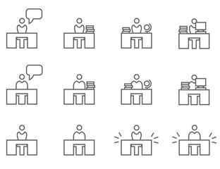 Icon Set Arbeitsplatz