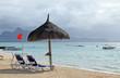 drapeau rouge sur lagon mauricien, baignade interdite