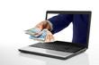 Leinwandbild Motiv Online Geld verdienen