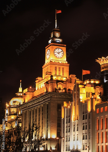 Beautiful night scene at the Bund in Shanghai, China