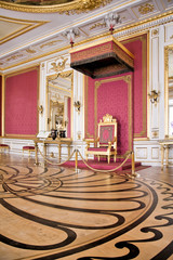 Throne Room in Royal Castle in Warsaw on World Heritage List.