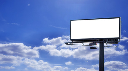 Blank billboard with sky