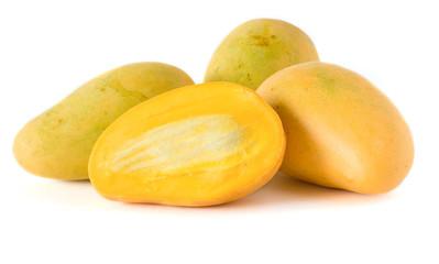 four mango isolated on white background