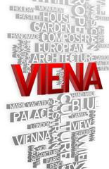Viena - 3D Typography
