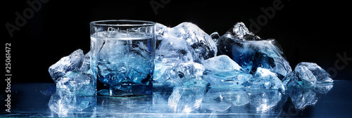 glass with ice - 25061472