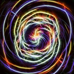 Multicolored light spin