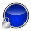glossy blue icon - safety