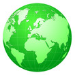 globe green vector
