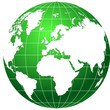 globe green and white vector
